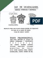 Planta Enmelazadora de Esquilmos de Maiz Ejidos de Ameca Jalisco