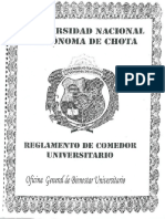 Reglamento Del Comedor Universitario