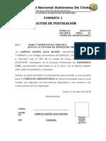 Declaración Jurada de Ingresos de Los Padres Con Trabajo Independiente o Autónomo