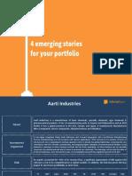 4 Emerging Stories for Your Portfolio