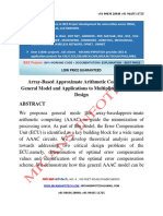Array Based Approximate Arithmetic Computing a General Model and Applications to Multiplier and Squarer Design