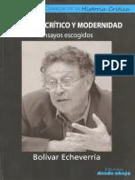 Discurso Critico y Modernidad Ensayos Escogidos
