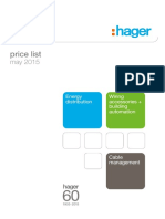 Hager Pricelist May2015