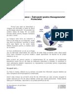 Sfaturi pentru managementul proiectelor Business Intelligence