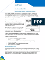 Intel CURIE Module Factsheet
