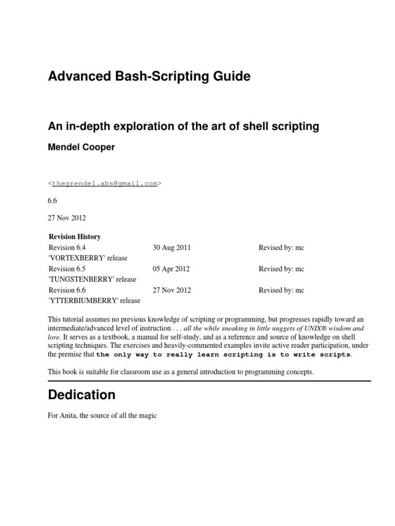 basics on bash scripting | Command Line Interface