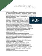 """Bases Conceptuales y Teã""""Ricas Para Una Convivencia Democratica en La Familia (1)"""