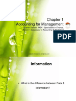 Chapter 1 Accounting for Management
