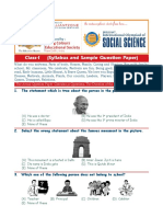 Syllabus and Sample Question Paper Social Science Class-1