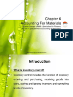 Chapter 6 Accounting for Materials