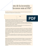 El Aumento de La Inversión Pública Favorece Más Al PBI (2)