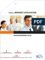 Web Base Timesheet Application