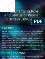 the changing role of women in britain