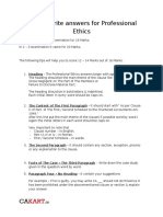 CA Final Writing Professional Ethics Answers