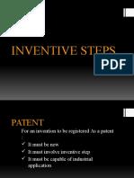 Inventive Steps