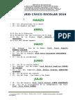 Calendario Civico Escolar 2015
