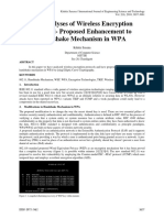 The Analyses of Wireless Encryption Protocol- Proposed Enhancement to Handshake Mechanism in WPA