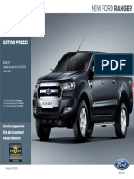 Ford New Ranger - Preisliste