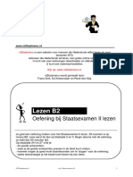 Oefening-Staatsexamen II Lezen