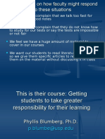 Responsibility for Learning - 2 Hr
