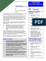 WHO-Drug Safety Pharmacovigilance
