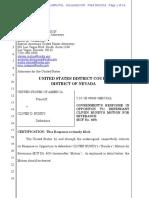 06-10-2016 ECF 505 USA v CLIVEN BUNDY - Response to Motion to Sever Defendant