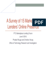 A Survey of 15 Marketplace Lenders Online Presence