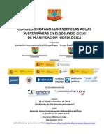 Congreso hispano-luso sobre las aguas subterráneas en el segundo ciclo de planificación hidrológica