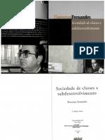 267666687 Sociedade de Classes e Subdesenvolvimento Florestan Fernandes 1968
