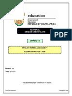Grade10 Exemplar English HL P1
