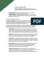 Atributos de Calidad Un Software Web
