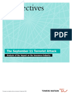 Impact of the September 11 Terrorist Attack on the Insurance Industry Towers Watson