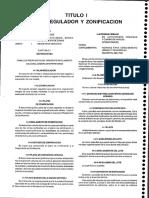 Titulo i Plan Regulador y Zonificacion