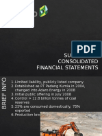 Reading Financial Statement Assignment
