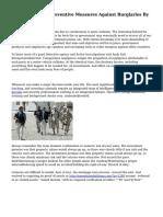 Home Security - Preventive Measures Against Burglaries By Milos Pesic