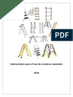 Instrucciones Para El Uso de Escaleras Manuales