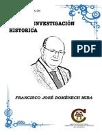 "Convocatoria Beca de Investigación Histórica "" Fco. José Doménech Mira"""