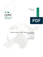 Economic Policy, Tourism Trade and Productive Diversification
