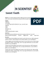 Kitchen Scientist Sweetness