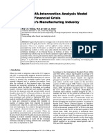 An Arima Intervention Analysis Model for the Financial Crisis in China s Manufacturing Industry