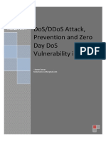 DoS-DDoS Attack, Prevention and Zero Day DoS Vulnerability in IPv6