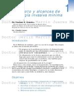 Concepto y Alcances de La Cirugía Invasiva Mínima