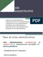 Clasificación Actos Administrativos