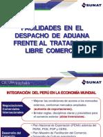 Facilidades en El Despacho de Aduanas-TLC