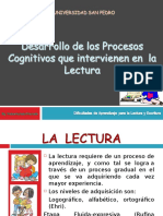 Desarrollo de Los Procesos Cognitivos Para La Lectura 1