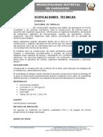 ESPECIFICACIONES TECNICAS PAUCARAY