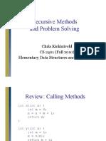 Recursive Methods and Problem Solving