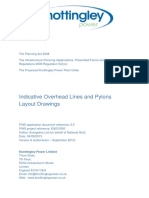 Overhead Lines and Pylons Drawing