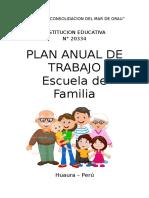 Plan Anual de Escuela de Familia