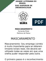 Audio Clinica Mascaramento